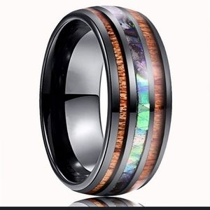 Black Abalone & Koa Wood Ring